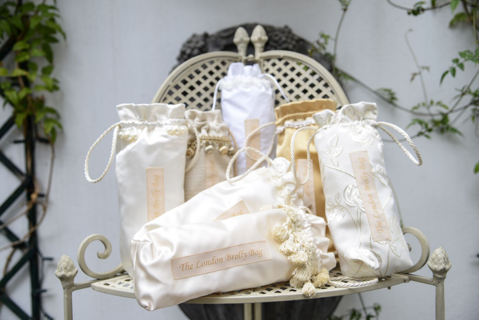 Wedding brolly bags