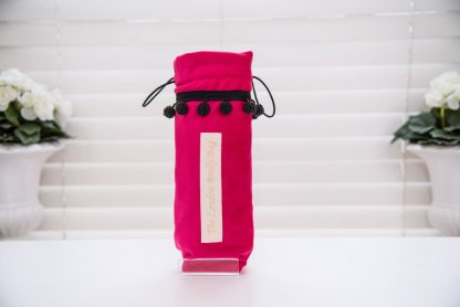 Raspberry pink satin brolly bag