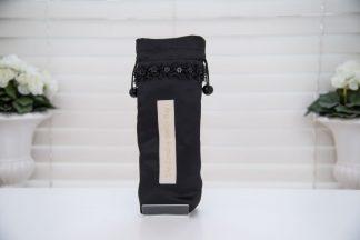Black satin brolly bag