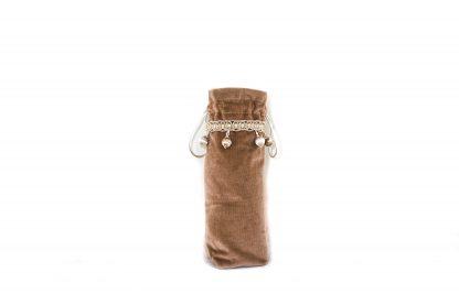 Taupe velvet brolly bag