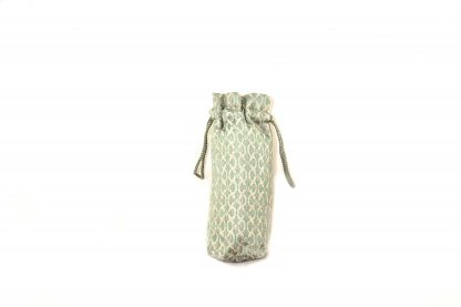 Pale green and gold textured satin brolly bag