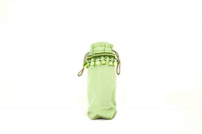 Mint green taffeta with mint green tassels brolly bag