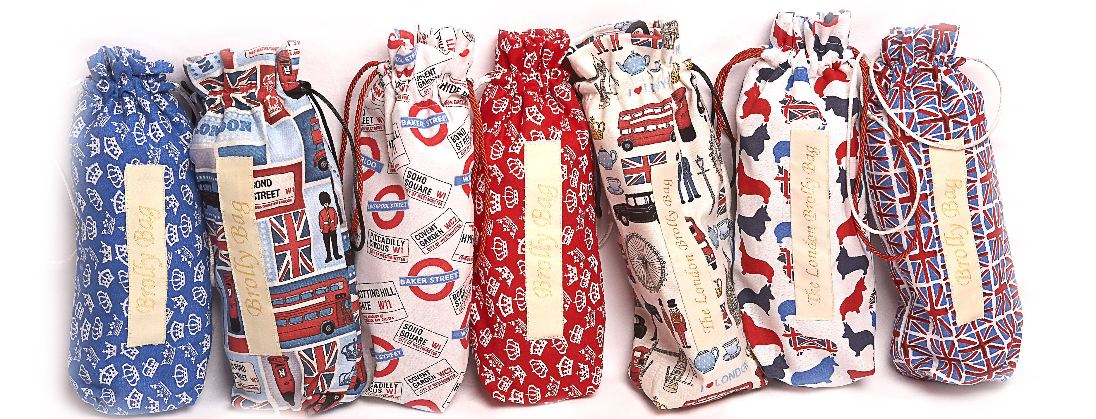 Collection of London Brolly Bags, Wet brolly Dry handbang