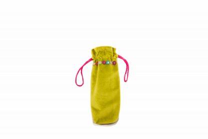 Lime green velvet brolly bag