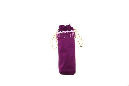 Purple satin brolly bag
