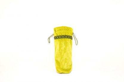Lime green velvet brolly bag