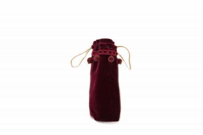 Burgundy velvet brolly bag