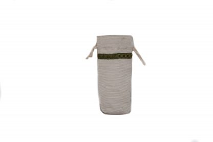 Textured taupe brolly bag