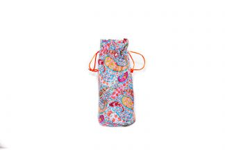Pink and Blue Paisley Brolly Bag
