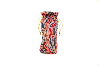 Red and Navy Paisley Brolly Bag