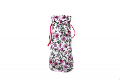 Pink floral brolly bag